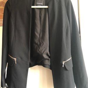 Trouve Jackets & Coats - Trouve drapey open blazer black cropped sz S NWT